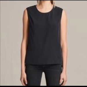 All Saints Kaili Laced Shoulder Sleeveless Top
